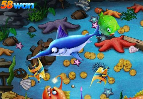大鱼吃小鱼 58wan《冒险世界》丰富多彩的海底世界